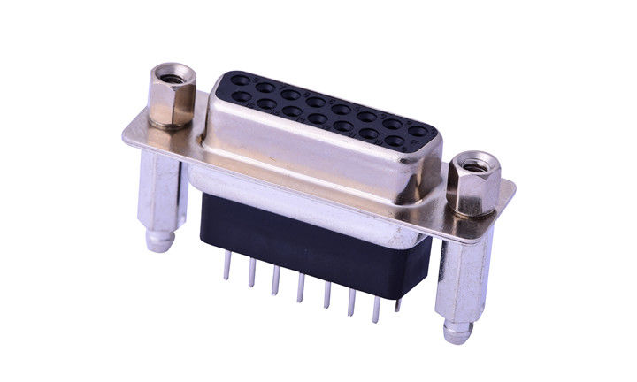 180 Degree Plug - In Db15 Male Connector , Custom 15 Way D Type Connector