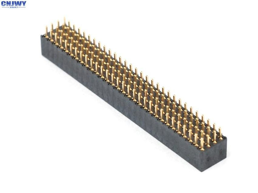 DIP 4 X 10 Pin Female Header Connector 2.00mm Four Row Phosphor Bronze Contact Material