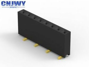 Single Row Female Header Connector SMT Type Height 3.56 Mm Current Rating 2.0AMP