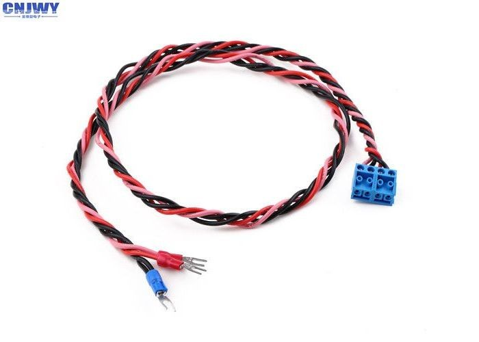 Custom Auto Wiring Harness With 3.81mm 2 Pin Terminal Block UL1007 18AWG Wire