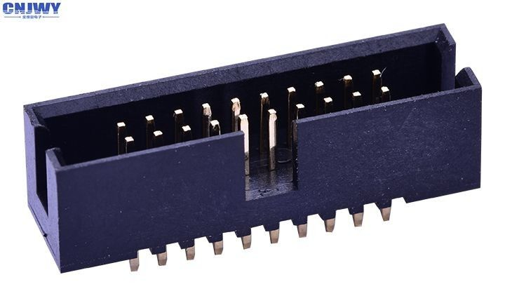 Surface Mount Box Header Connector 1.27 Mm 20 Pins Phosphor Bronze Contact Material