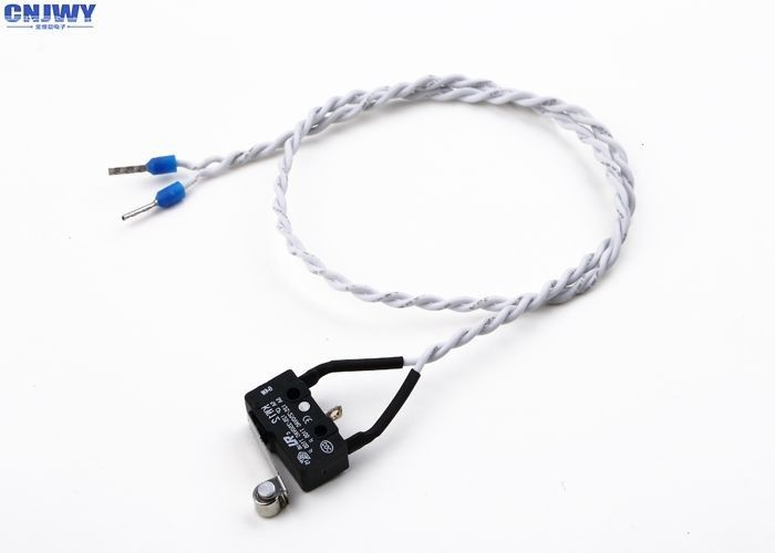 White Auto Electrical Wiring Harness With Miniature Switch Twisted Length PVC Wire