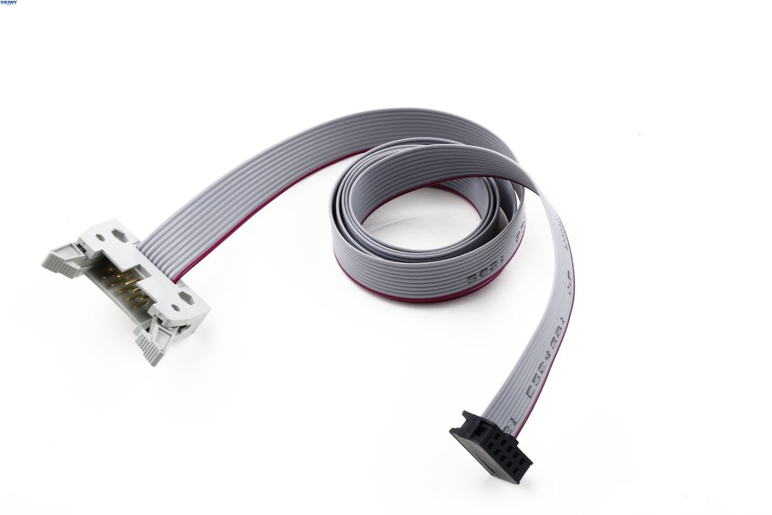 2 * 5 Pins IDC Ribbon Cable Assemblies , 2.54 Mm Pitch Ribbon Cable  PVC Material
