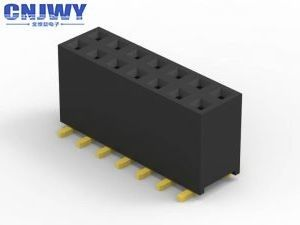 Rectangular SMT PCB Header Connector Surface Mount PA6T Material Black