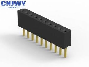 Black Female  PCB Header Connector 1.27mm Pitch LCP Material H = 2.1mm