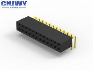 Femal PCB Header Connector Gold Flash PBT Material Insulation Resistance
