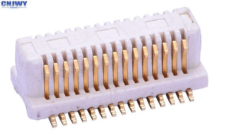 Vertical 30PIN PCB Board To Board Connector Pedestal Beige Phosphor Bronze Material