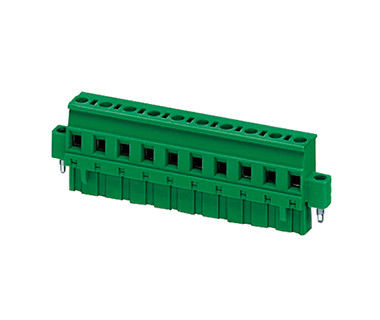 Pluggable Terminal Block Connector CPT 7.62mm Pitch 1*11P Green PA66 SN Plated 30-12AWG