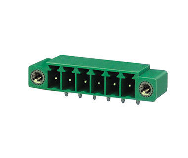 PA66 SN Plated Plug In Terminal Block CST 3.50mm Pitch DIP Wafer H 12.7mm With Flange